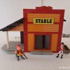 Juguetes antiguos Exin: EXIN WEST, ESTABLO O STABLE.. Lote 208484972