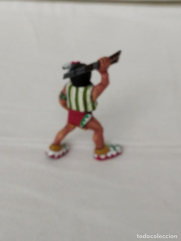 Juguetes antiguos Exin: EXIN WEST GUERRERO INDIO AVANZANDO CON RIFLE Y ESCUDO PINTADO EN ALTA CALIDAD - Foto 3 - 210391662