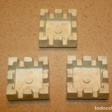 Juguetes antiguos Exin: 3 TORREONES CUADRADOS PEQUEÑOS DE EXIN CASTILLOS. Lote 210484412