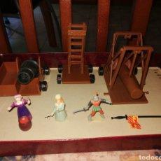 Juguetes antiguos Exin: FIGURAS CAÑON Y VARIOS EXIN CASTILLO. Lote 210578716