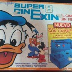Giocattoli antichi Exin: SUPER CINEXIN PROYECTOR DE CINE SUPER 8 CON UNA PELÍCULA + INSTRUCCIONES. Lote 211799826