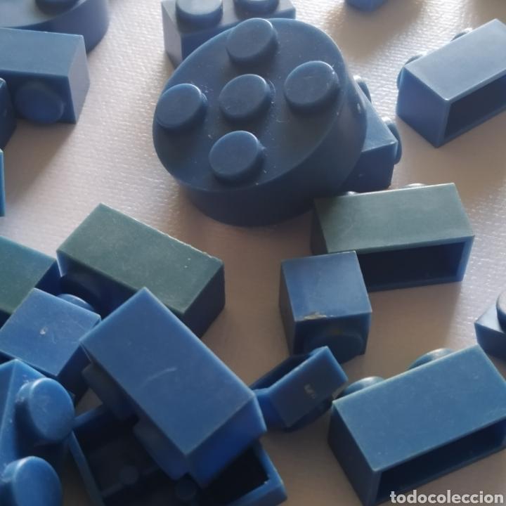 Juguetes antiguos Exin: Gran lote de piezas azules Exin Castillos Mansion Fantasma o Família Monster - Foto 2 - 211995642