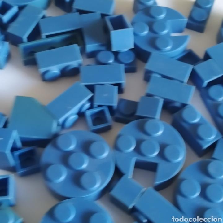 Juguetes antiguos Exin: Gran lote de piezas azules Exin Castillos Mansion Fantasma o Família Monster - Foto 3 - 211995642