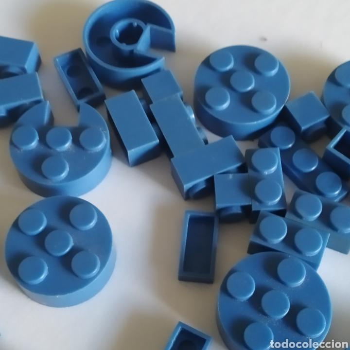 Juguetes antiguos Exin: Gran lote de piezas azules Exin Castillos Mansion Fantasma o Família Monster - Foto 4 - 211995642