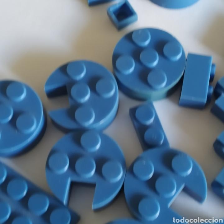 Juguetes antiguos Exin: Gran lote de piezas azules Exin Castillos Mansion Fantasma o Família Monster - Foto 5 - 211995642