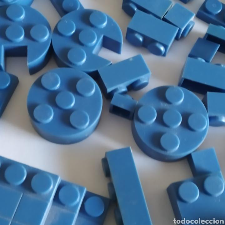 Juguetes antiguos Exin: Gran lote de piezas azules Exin Castillos Mansion Fantasma o Família Monster - Foto 6 - 211995642