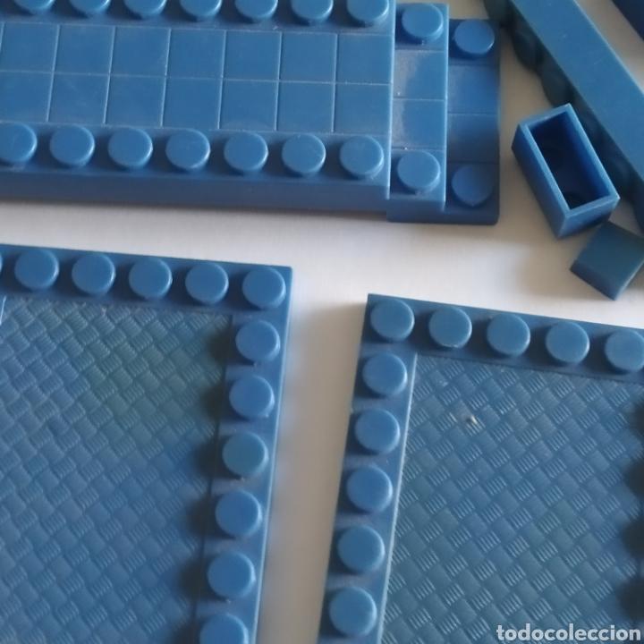 Juguetes antiguos Exin: Gran lote de piezas azules Exin Castillos Mansion Fantasma o Família Monster - Foto 7 - 211995642