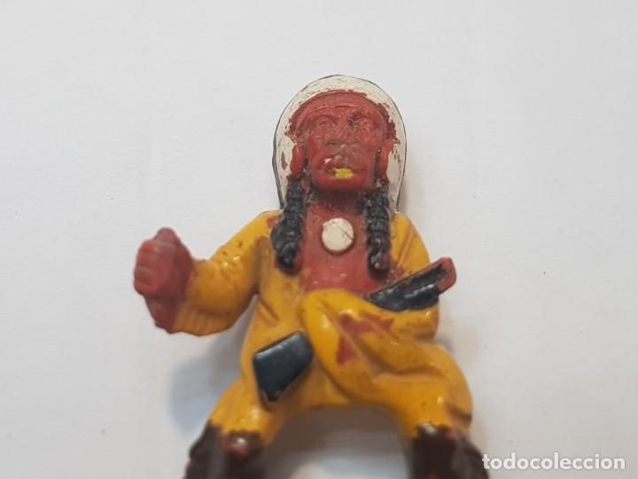 Juguetes antiguos Exin: Figura Jefe Indio Exin West - Foto 3 - 212632143