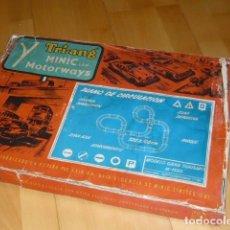 Juguetes antiguos Exin: MUY RARO FABRICADO EN ESPAÑA POR EXIN CIRCUITO COMPLETO MINIC MOTORWAYS. Lote 212934322