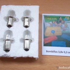Brinquedos antigos Exin: ENVIO CON TC: 3,50€ PARA SUPER CINEXIN PACK 4 BOMBILLAS DE 3,8V LAMPARAS DE PROYECCIÓN DE REPUESTO. Lote 228669750
