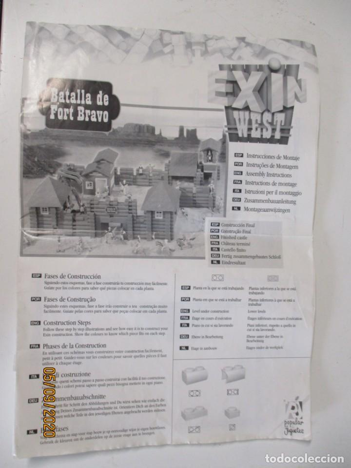 EXIN WEST BATALLA DE FORT BRAVO INSTRUCCIONES (Juguetes - Marcas Clásicas - Exin)