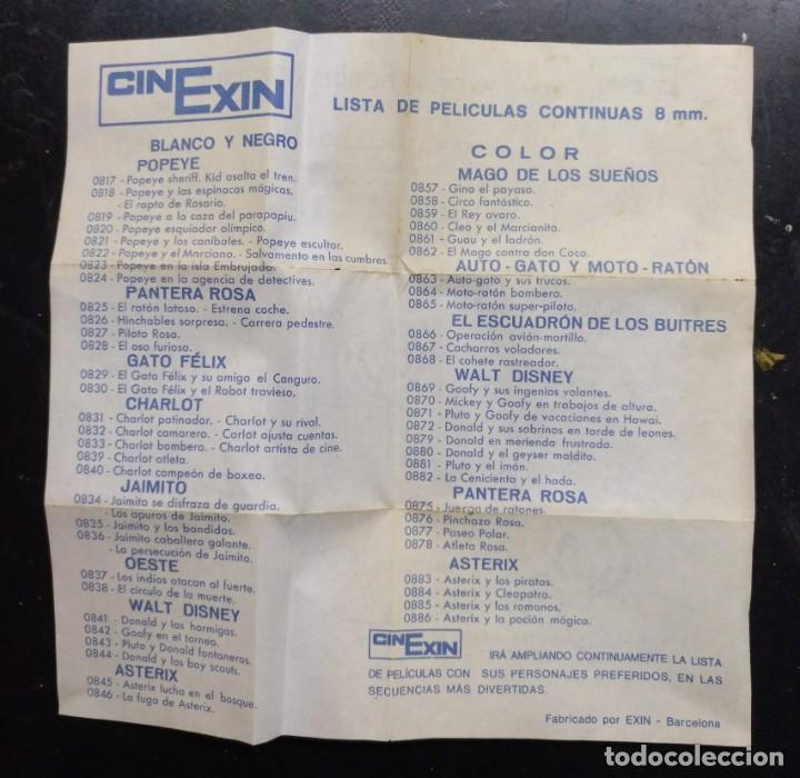Juguetes antiguos Exin: juguete, pelicula cnexin, cine exin 8 mmm. - operacion avion martillo, con folletos - Foto 2 - 219290391