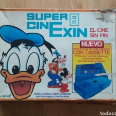 Juguetes antiguos Exin: CAJA SUPER 8 CINE EXIN AZUL. DESPERFECTOS.. Lote 219631595