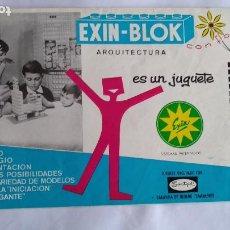 Juguetes antiguos Exin: EXIN BLOK ARQUITECTURA , CATÁLOGO DE INSTRUCCIONES. Lote 221463462