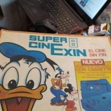 Juguetes antiguos Exin: ANTIGUO CINE EXIN EN CAJA CON DOS PELICULAS. Lote 222013007