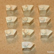 Juguetes antiguos Exin: OFERTA: 10 CURVAS 1X1 SECCIONADAS IZQUIERDA, EXIN LINES BROS, ELB, EXIN CASTILLOS.. Lote 222731662