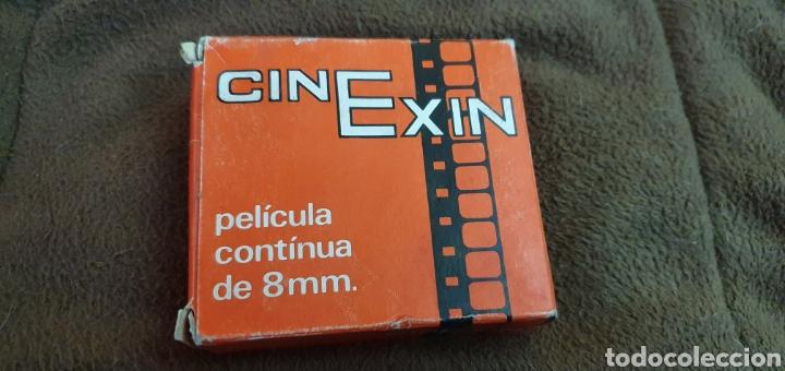 CINE EXIN PELÍCULA CONTINUA DE 8MM. PLUTO EL HUESO Y SU RIVAL (Juguetes - Marcas Clásicas - Exin)
