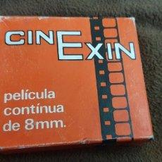 Juguetes antiguos Exin: CINE EXIN PELÍCULA CONTINUA DE 8MM. PLUTO EL HUESO Y SU RIVAL. Lote 224356242
