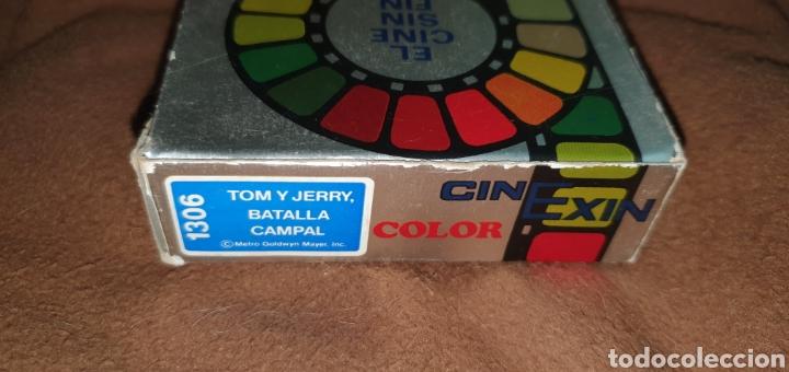 Juguetes antiguos Exin: CINE EXIN PELÍCULA COLOR CONTINUA DE 8 MM.TOM Y JERRY BATALLA CAMPAL - Foto 3 - 224356678