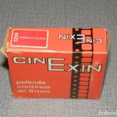 Juguetes antiguos Exin: PELICULA CINE EXIN, REF 1209, CHARLOT ATLETA, EN CAJA B/N. Lote 224668560