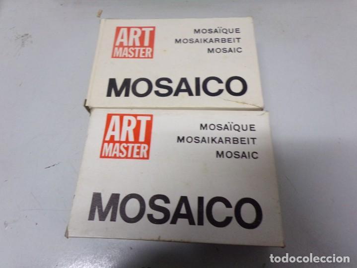 Juguetes antiguos Exin: lote de 11 ART MASTER MOSAICO - CUBO CON PIEZAS O TESELAS - Foto 7 - 227881560