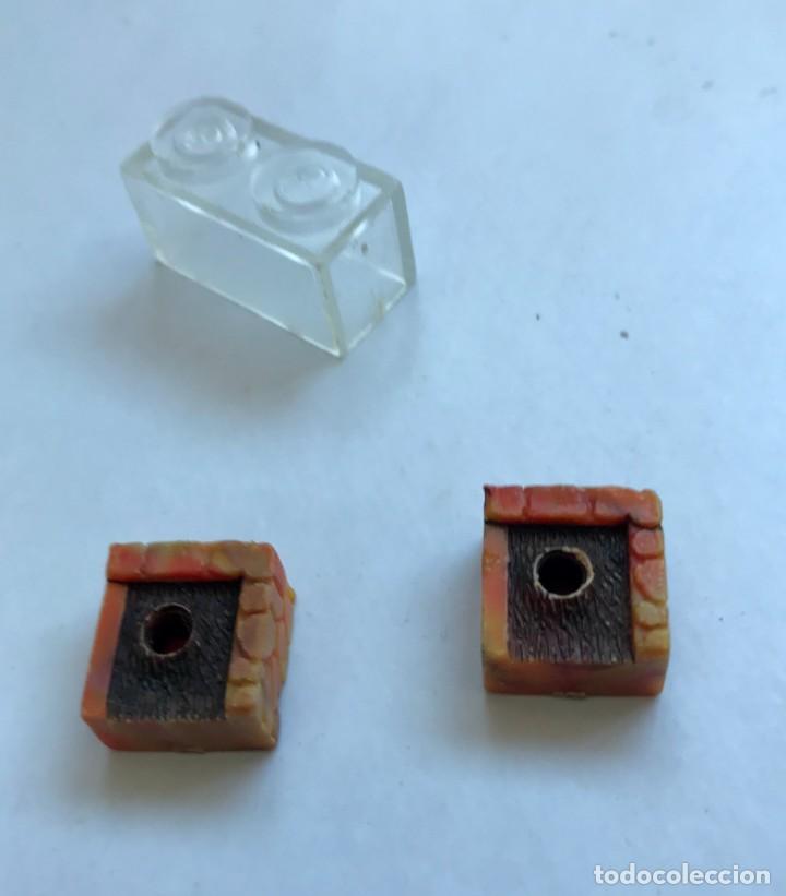 Juguetes antiguos Exin: 2 x MACETA / MACETERO SIMPLE + 1 PIEZA TRANSPARENTE EXIN CASTILLOS BLOCK ARQUITECTURA. AÑOS 70/80. - Foto 2 - 231010360