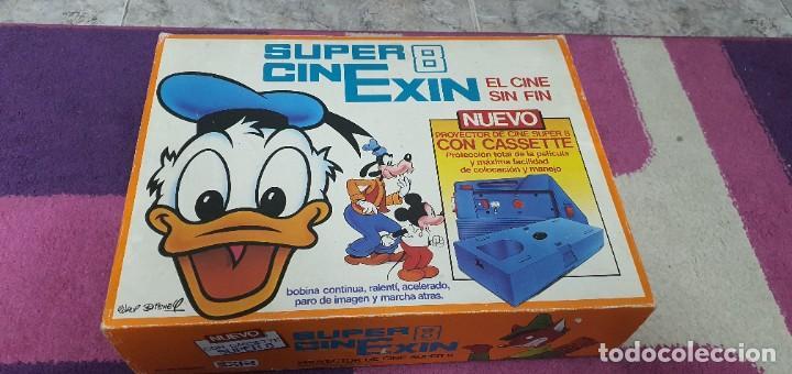 SUPER CINEXIN. PROYECTOR DE CINE SUPER 8 WALT DISNEY , MÁS 6 PELICULAS , PERFECTO ESTADO FUNCIONANDO (Juguetes - Marcas Clásicas - Exin)