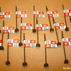 Juguetes antiguos Exin: OFERTA: 15 BANDERAS CON EL DIBUJO FOTOCOPIADO DE EXIN CASTILLOS.. Lote 235292130