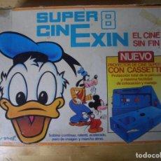 Juguetes antiguos Exin: SUPER CINEXIN SUPER 8 REF 0801 EXIN CON 4 PELICULAS - AVERIADO. Lote 236029645