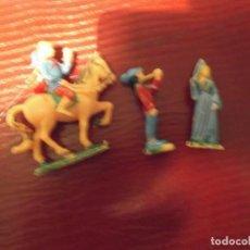 Juguetes antiguos Exin: LOTE 7-- 3 PERSONAJES AÑOS 70 EXIN CASTILLO. Lote 236398500