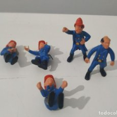 Jouets anciens Exin: 5 X FIGURA OESTE FARWEST BOMBERO EXIN WEST, MADE IN SPAIN, ORIGINAL AÑOS 70.. Lote 236645445