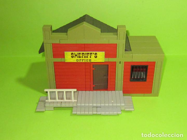 Juguetes antiguos Exin: EXINWEST SHERIFF Y STABLE CON SU CAJA DOS CONSTRUCCIONES - Foto 2 - 236805890