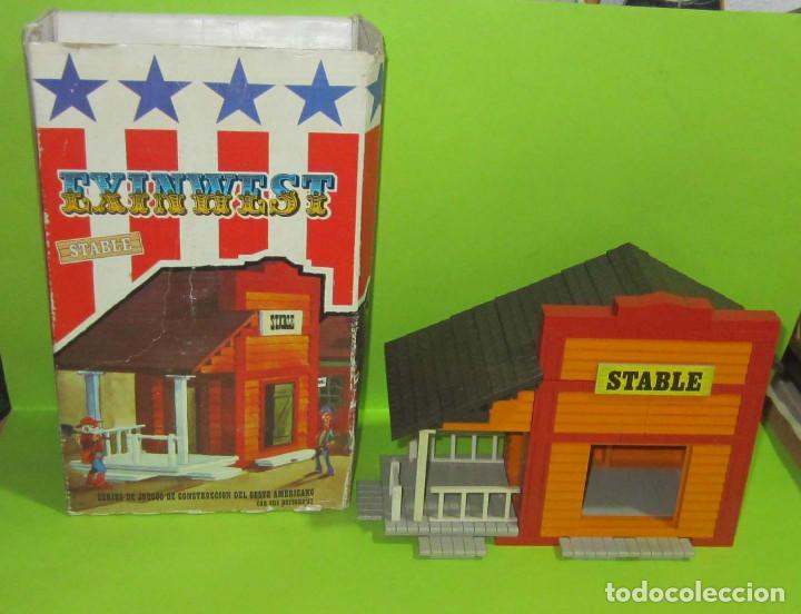 Juguetes antiguos Exin: EXINWEST SHERIFF Y STABLE CON SU CAJA DOS CONSTRUCCIONES - Foto 11 - 236805890