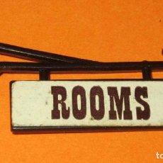 Juguetes antiguos Exin: EXIN WEST- 7º DE CABALLERIA, 2 DESTACAMENTO,CARTEL ROOMS-HABITACIONES ORIGINAL BUEN ESTADO. Lote 237986465