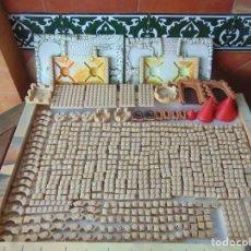 Brinquedos antigos Exin: LOTE DE PIEZAS DE EXIN CASTILLOS CON SUS BASES ,ORIGINAL EXIN. Lote 238421385