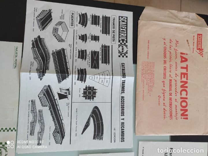 Juguetes antiguos Exin: Exin scalextric documentación circuito gp 51 - Foto 2 - 239389510