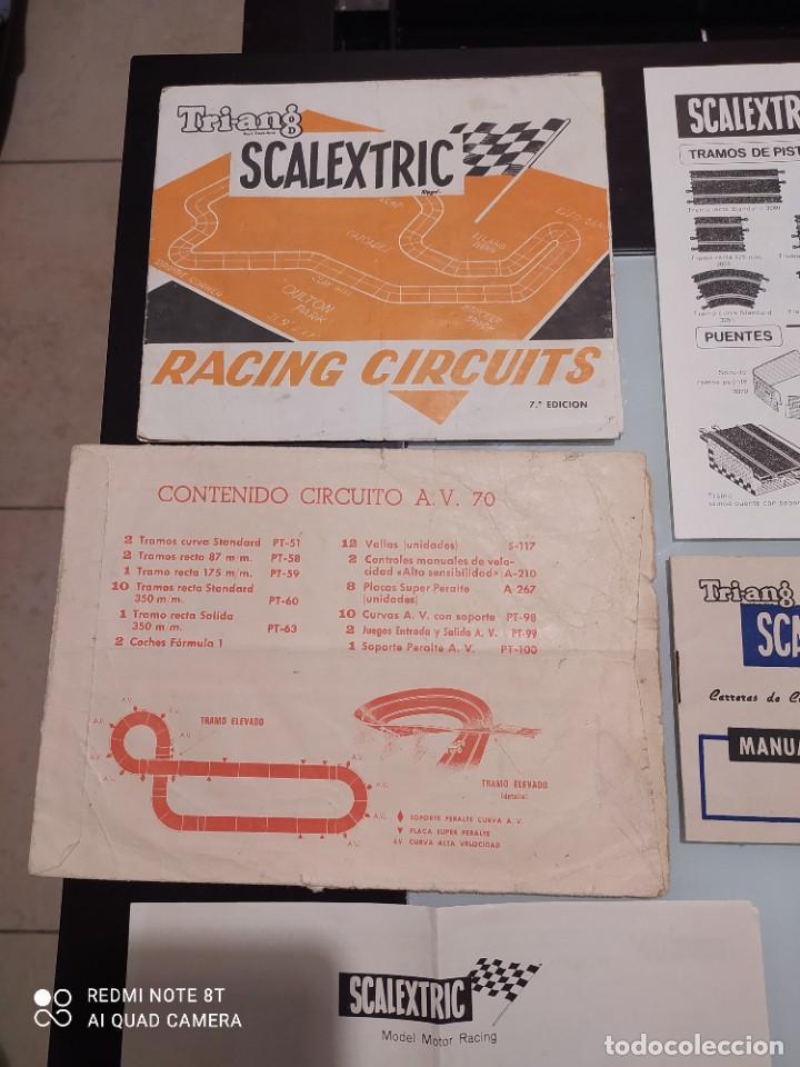 Juguetes antiguos Exin: Exin scalextric lote documentación Av 70 - Foto 2 - 239474610