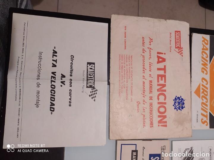 Juguetes antiguos Exin: Exin scalextric lote documentación Av 70 - Foto 3 - 239474610