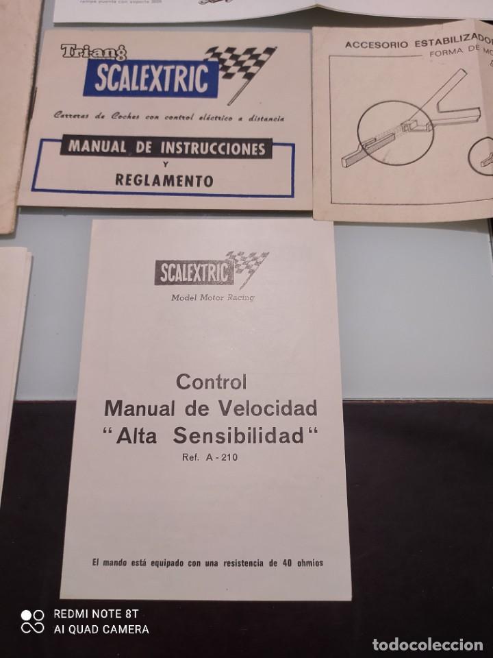 Juguetes antiguos Exin: Exin scalextric lote documentación Av 70 - Foto 5 - 239474610