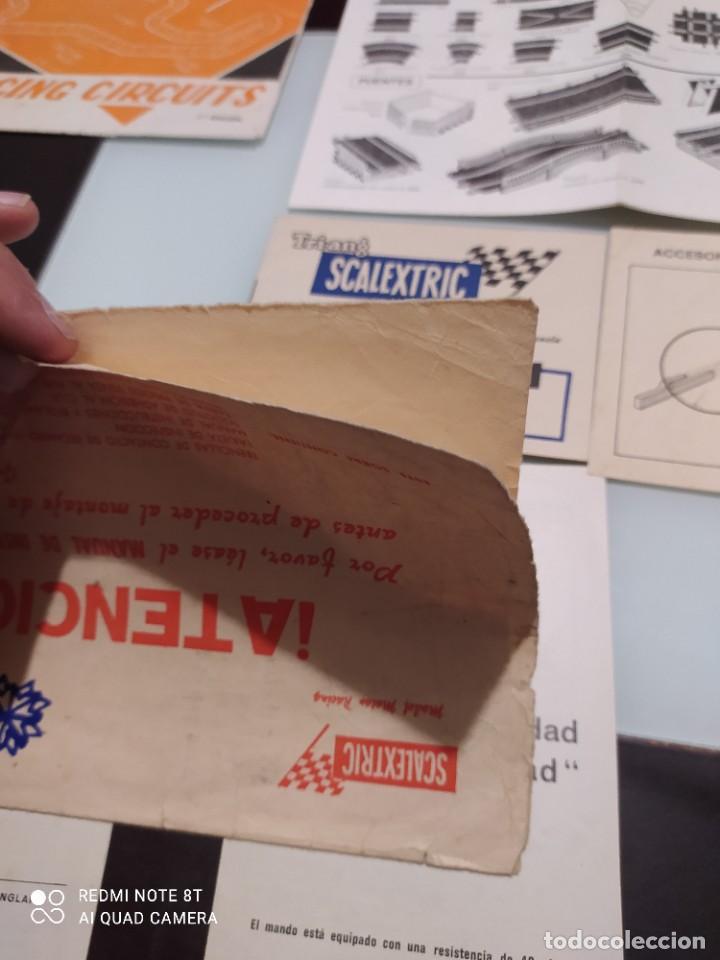 Juguetes antiguos Exin: Exin scalextric lote documentación Av 70 - Foto 6 - 239474610