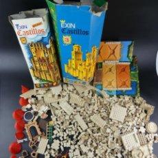 Brinquedos antigos Exin: GRAN LOTE DE EXIN CASTILLOS MODELOS 3 Y XII CON SUS CAJAS ORIGINALES, INSTRUCCIONES Y FIGURAS 3 KG. Lote 240394725