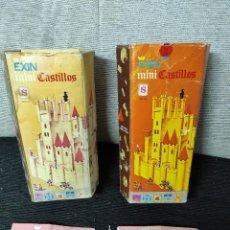 Juguetes antiguos Exin: DOS EXIN CASTILLOS NARANJAS S COMPLETOS. Lote 240761245