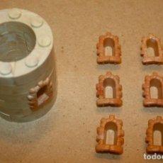 Brinquedos antigos Exin: OFERTA: 6 VENTANAS PARA TORRES DE 5 EXINIOS, EXIN LINES BROS, ELB, PIEZAS CLÁSICAS DE EXIN CASTILLOS. Lote 241149290