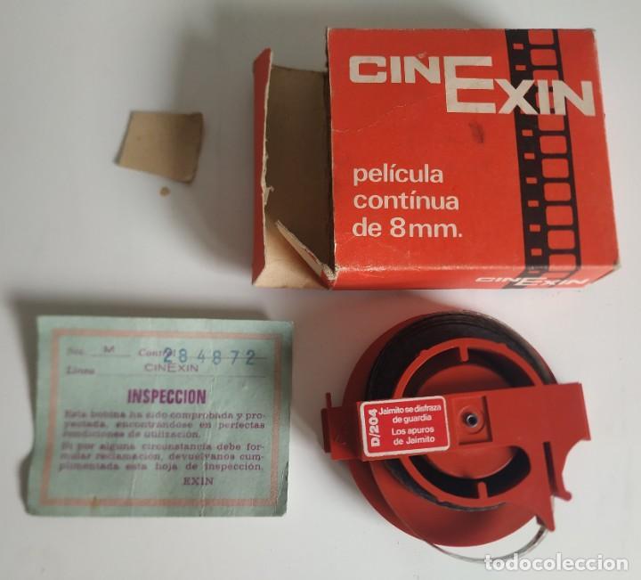 Juguetes antiguos Exin: CINEXIN PELICULA 8 MM JAIMITO SE DISFRAZA DE GUARDIA / LOS APUROS DE JAIMITO - Foto 3 - 241225560