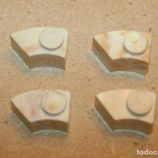 Brinquedos antigos Exin: OFERTA: 4 PIEZAS CURVAS 1X1 SEC. DERECHA DE EXIN LINES BROS, ELB, PIEZAS CLÁSICAS DE EXIN CASTILLOS.. Lote 241229830