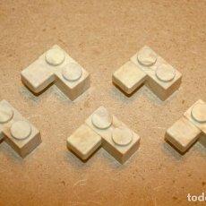 Brinquedos antigos Exin: OFERTA: 5 PIEZAS BLOQUES 2X1 CON LOSETA DE EXIN LINES BROS, ELB, PIEZAS CLÁSICAS DE EXIN CASTILLOS.. Lote 241230485