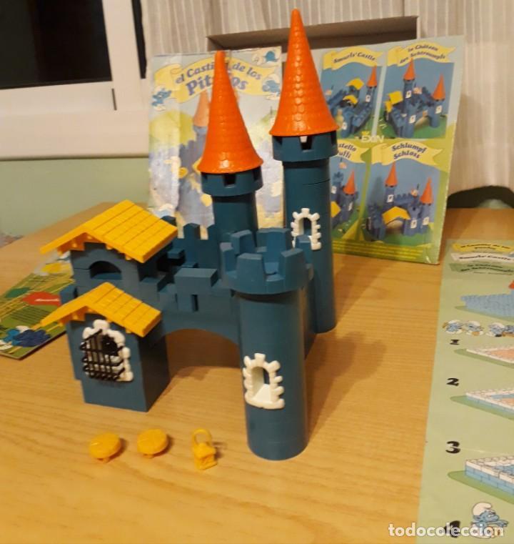 Juguetes antiguos Exin: exin construccion - el castillo de los pitufos - casi completo - ver fotos - año 1983 - Foto 5 - 32577416