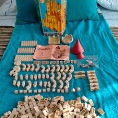 Juguetes antiguos Exin: EXIN CASTILLOS SERIE AZUL CAJA 0 AÑOS 70. Lote 241913145