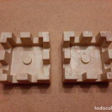 Brinquedos antigos Exin: OFERTA: 2 ALMENAS CUADRADAS PEQUEÑAS DE EXIN CASTILLOS.. Lote 243304590