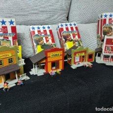 Brinquedos antigos Exin: EXIN WEST 3 CONSTRUCCIONES EXCELENTE ESTADO ,HOTEL,GENERAL STORE,ESTABLO ,SHERIFF VENDIDO. Lote 243894985